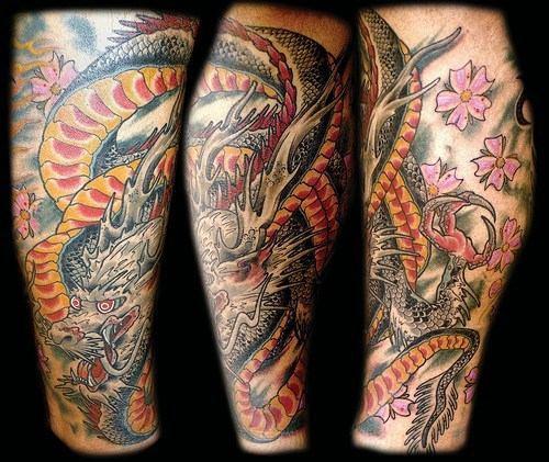 Dragon Japanese Japanese Black Dragon Leg